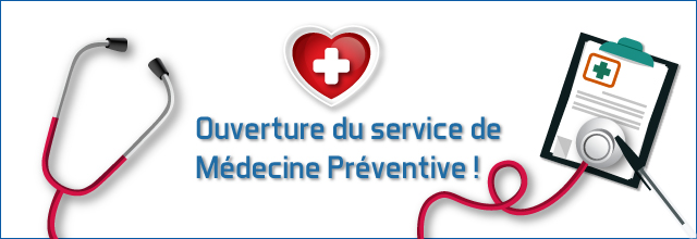 Horaires et coordonnées du service de médecine préventive
